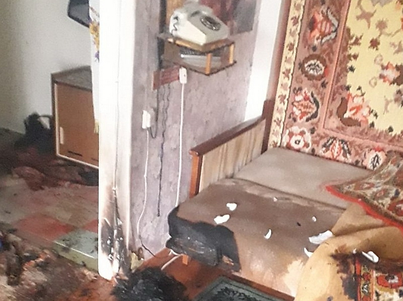 в Витебске горела квартира
