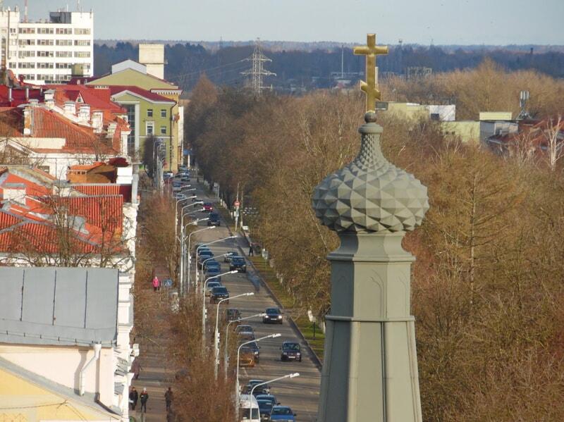 Панорама Полоцка с новыми фонарями