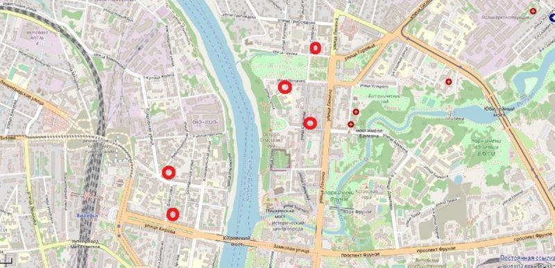 Карта дворов-колодцев Витебска
