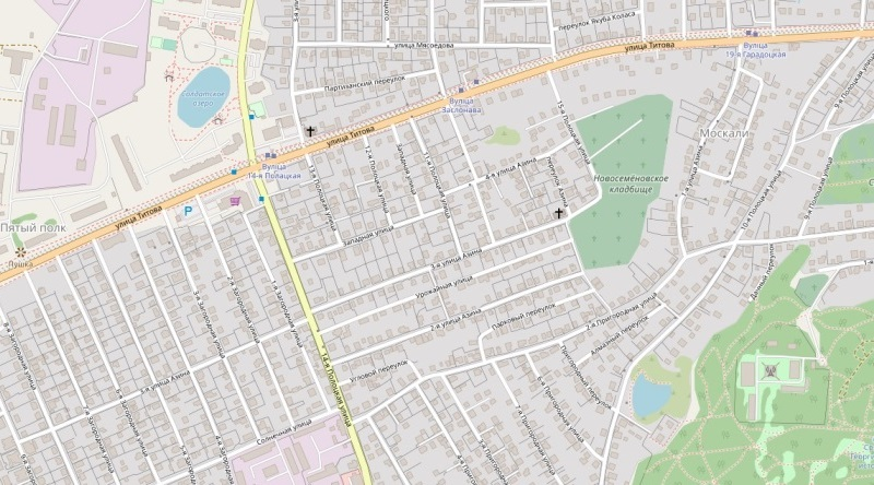 Карта Москалей