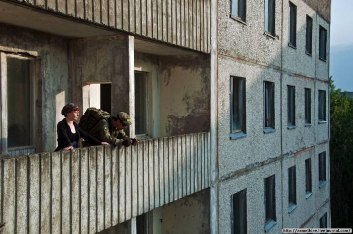 Балкон дома в Припяти