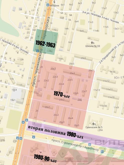 карта проспекта черняховского