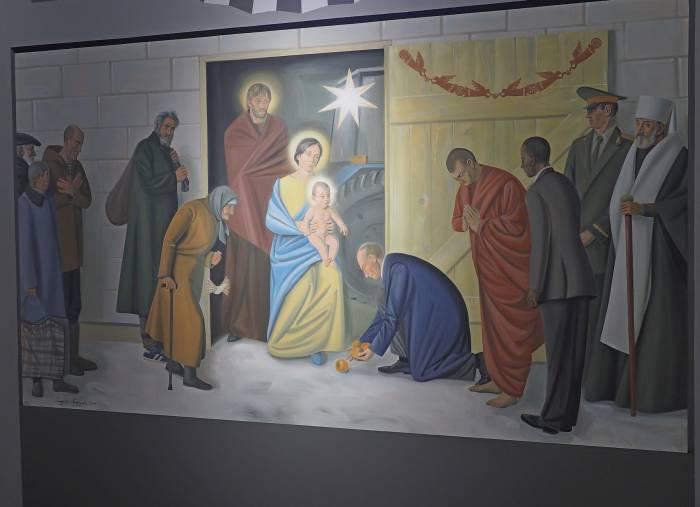 Фреска в костеле на улице Гагарина