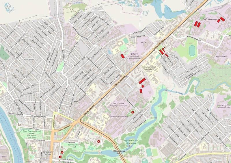 Карта домов на Гагарина