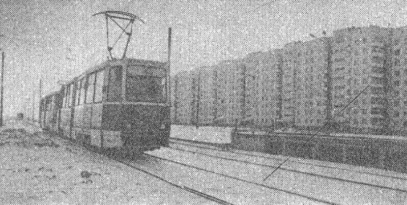 Первый трамвай на Петруся Бровки