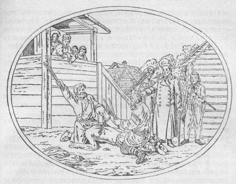 Порка крепостных крестьян