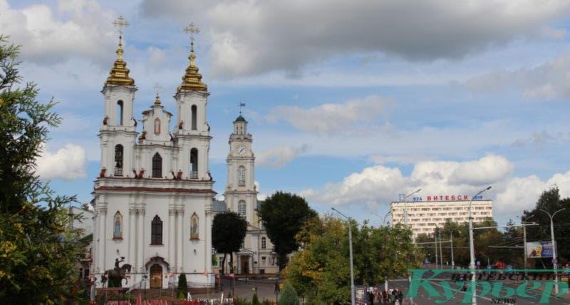 Центр Витебска: Ратуша и Воскресенская церковь