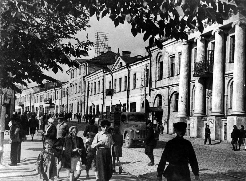 Улица Ленинская в 1946