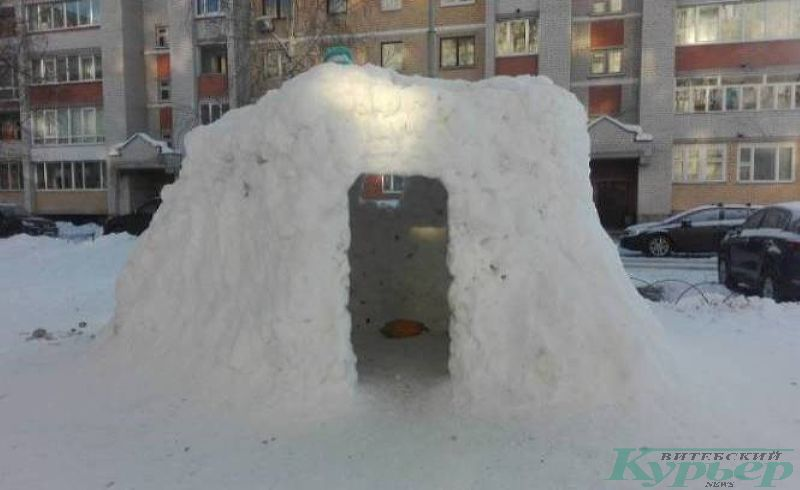 Дом из снега
