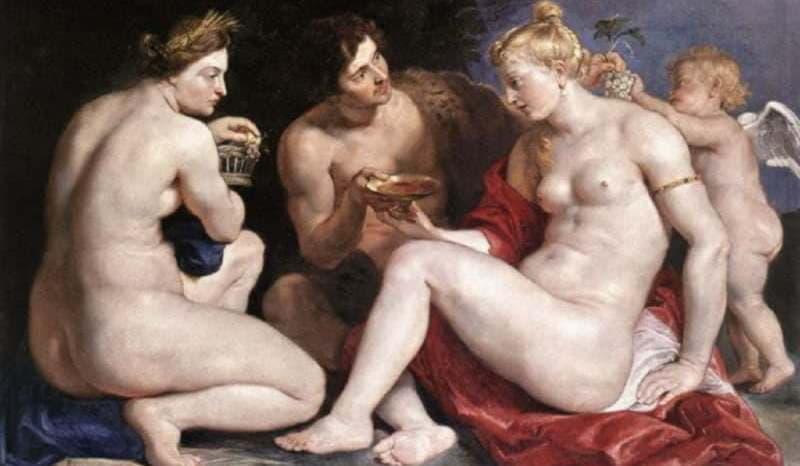 Рубенс. Венера, Купидон, Вакх и Церера. Около 1612-1613 гг.