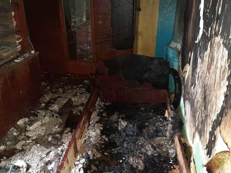 Сгорел дом в Шумилино