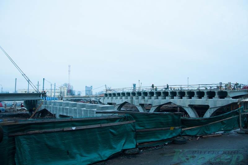 Стройка полоцкого путепровода в Витебске