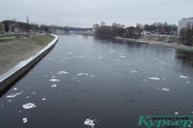 Западная Двина в январе 2018 года