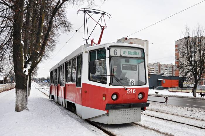 Трамвая КТМ-8 в Витебске