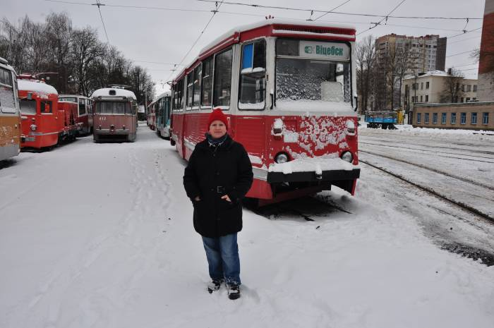 Корнелия Блом и трамвай в Витебске