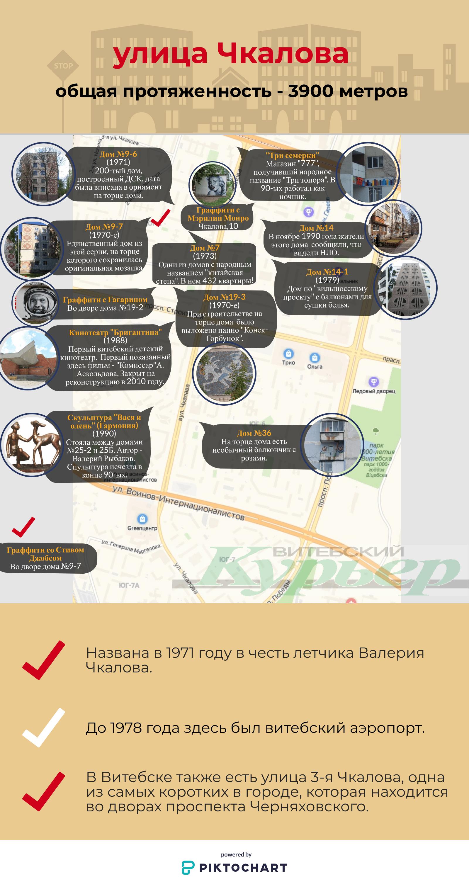 Карта улицы Чкалова