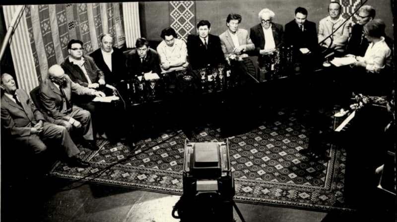 Съемки телепередачи с участием знаменитых уроженцев Витебщины. 01.07.1972 года