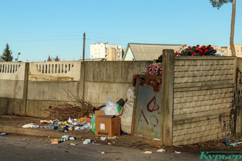 Проблема вывоза мусора Старосемёновское кладбище