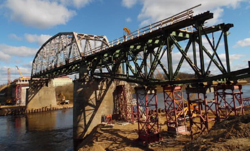 Моств Полоцке планируют сдать в ноябре