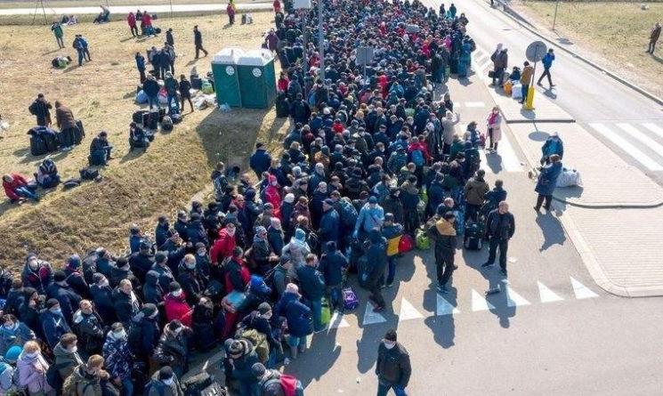 Очередь на украинско-польской границе