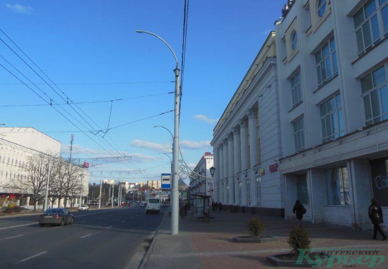 Улица Замковая и универмаг