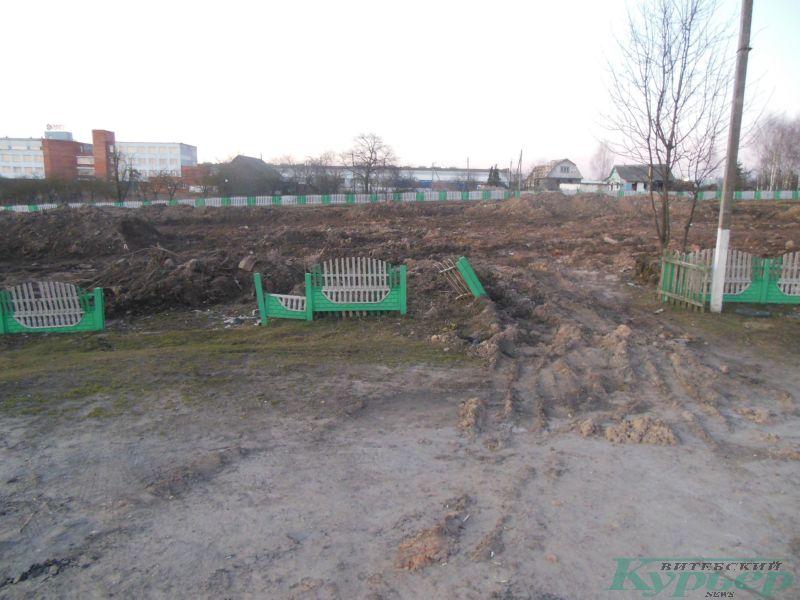 Сломанный забор в Билево