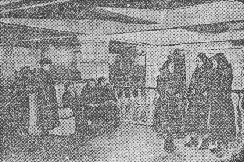 Кинотеатр Октябрь изнутри в 1958 году