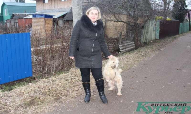 Светлана с Жужей на прогулке