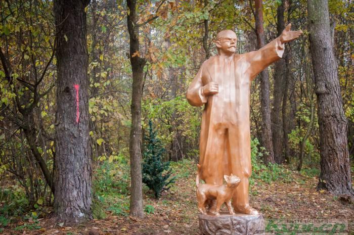 скульптура Ленин и кот в Витебске