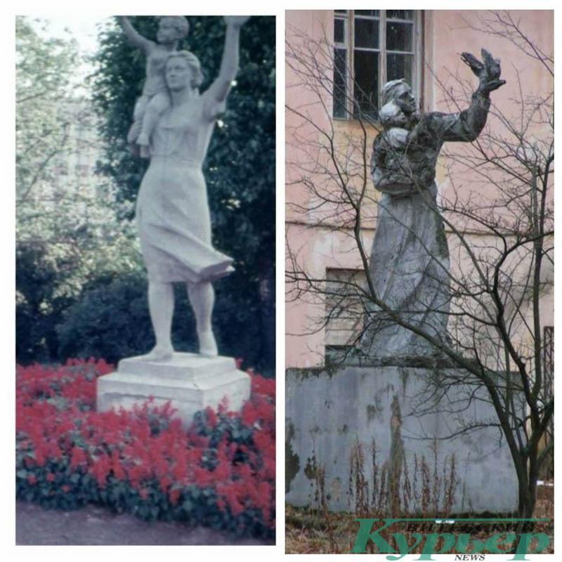 комсомолки скульптуры в Витебске