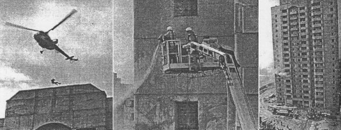 пожарные учения на Московском проспекте