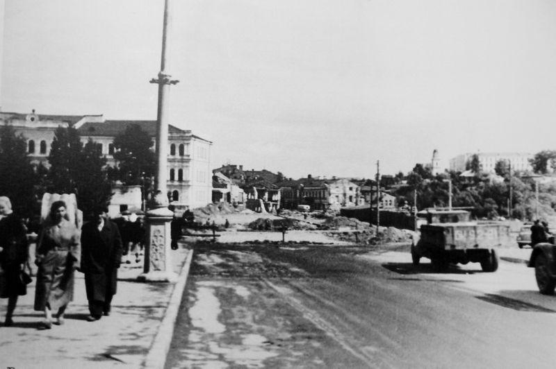 Реконструкция Замковой улице. 1956