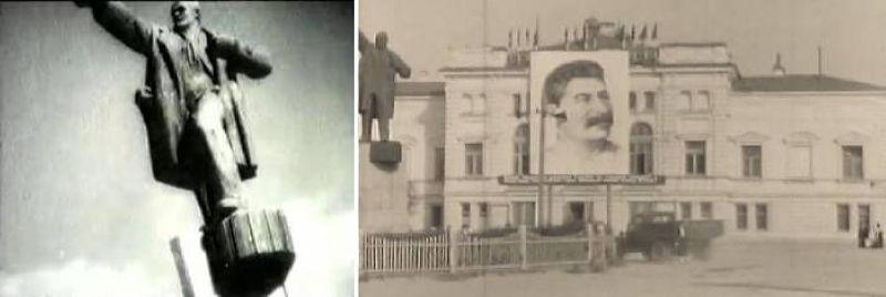 Памятник Ленину на кинохронике