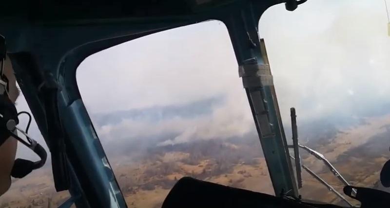 пожар в Чернобыле съемка вертолетом