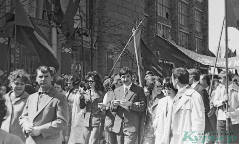 1975 год. Первомайская демонстрация на Замковой улице