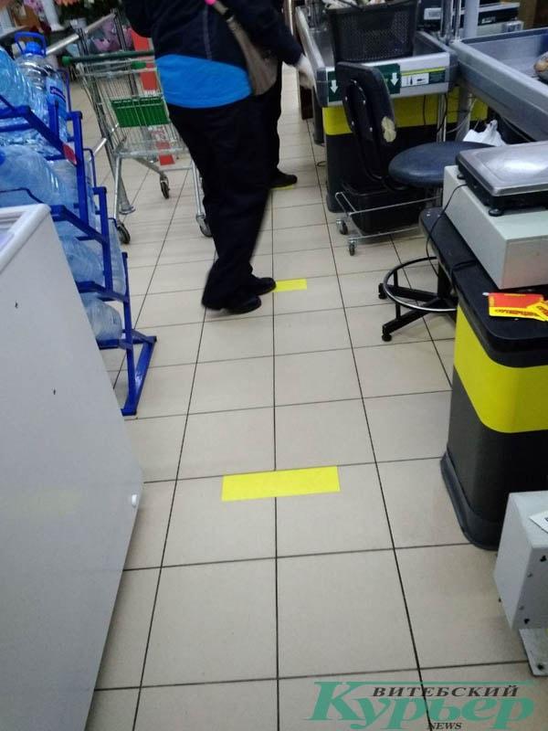 ограничительные меры в магазине