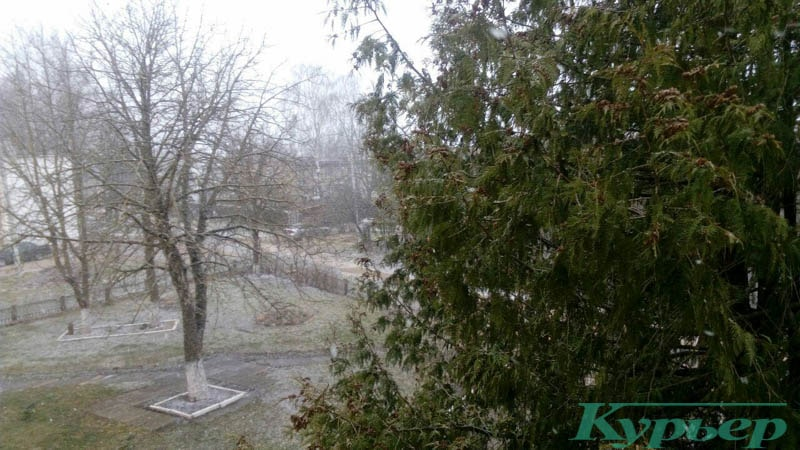 снег в витебске в апреле