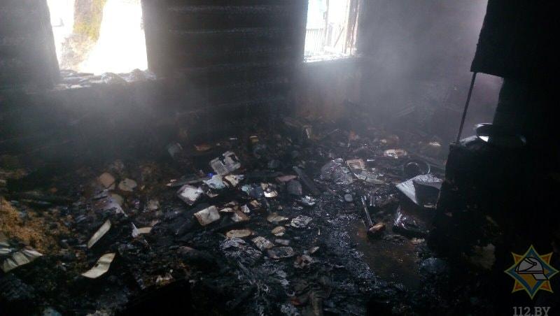 Пожар в Докшицком районе