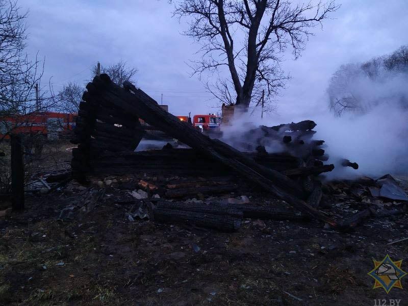 пожар в деревне Буй