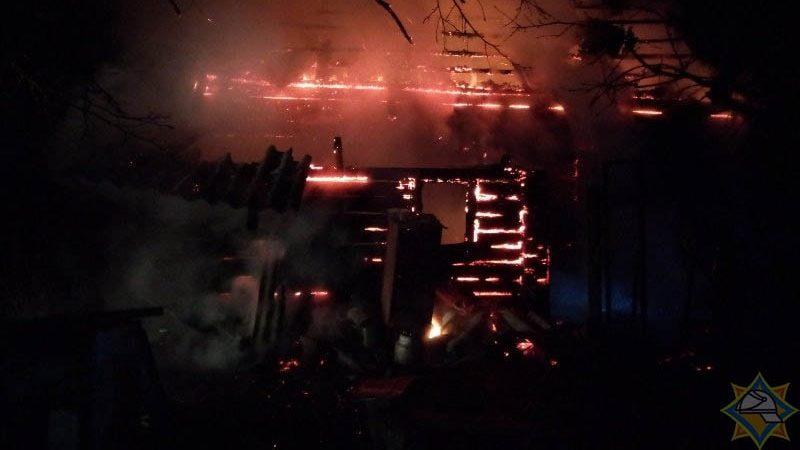 пожар в россонском районе