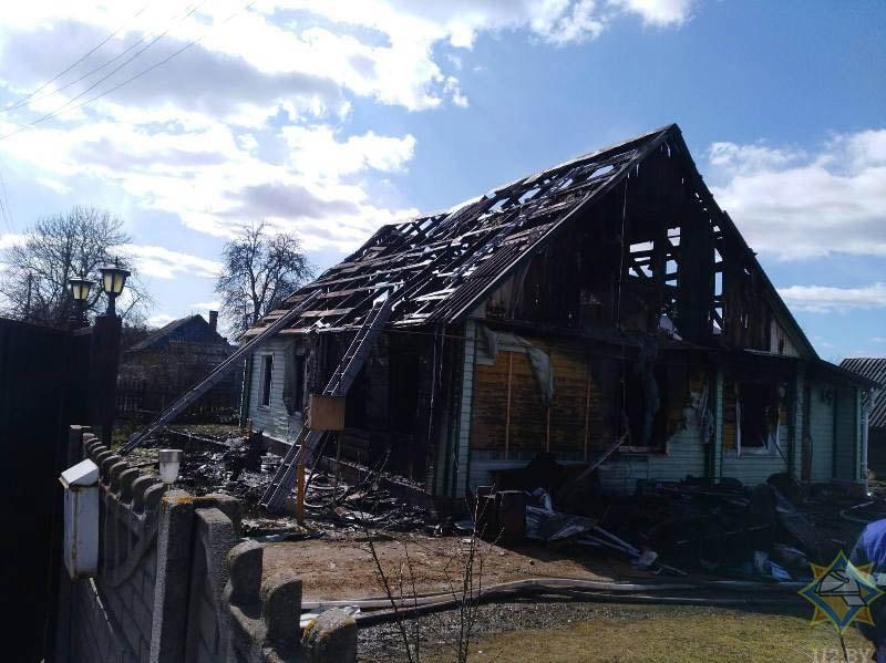 пожар в Бешенковичах