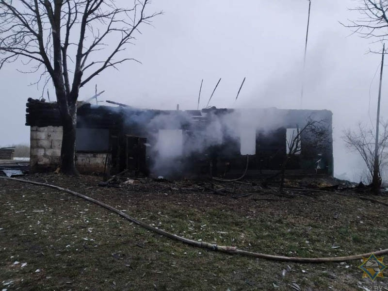 пожар в деревне Овсище