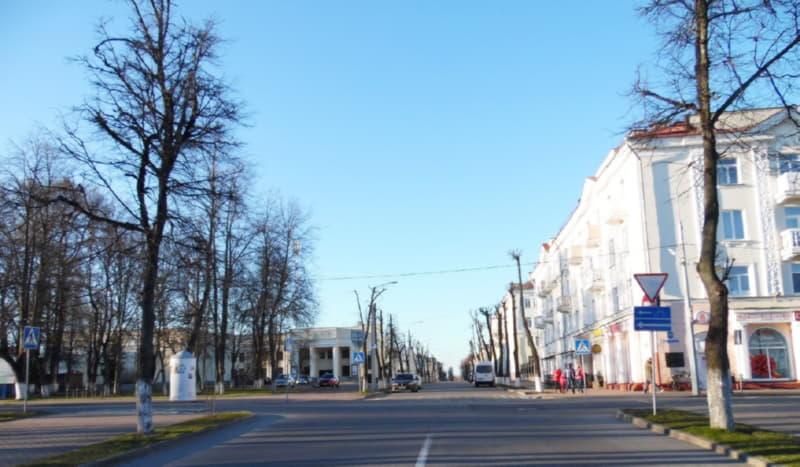 Пустые улицы древнего Полоцка
