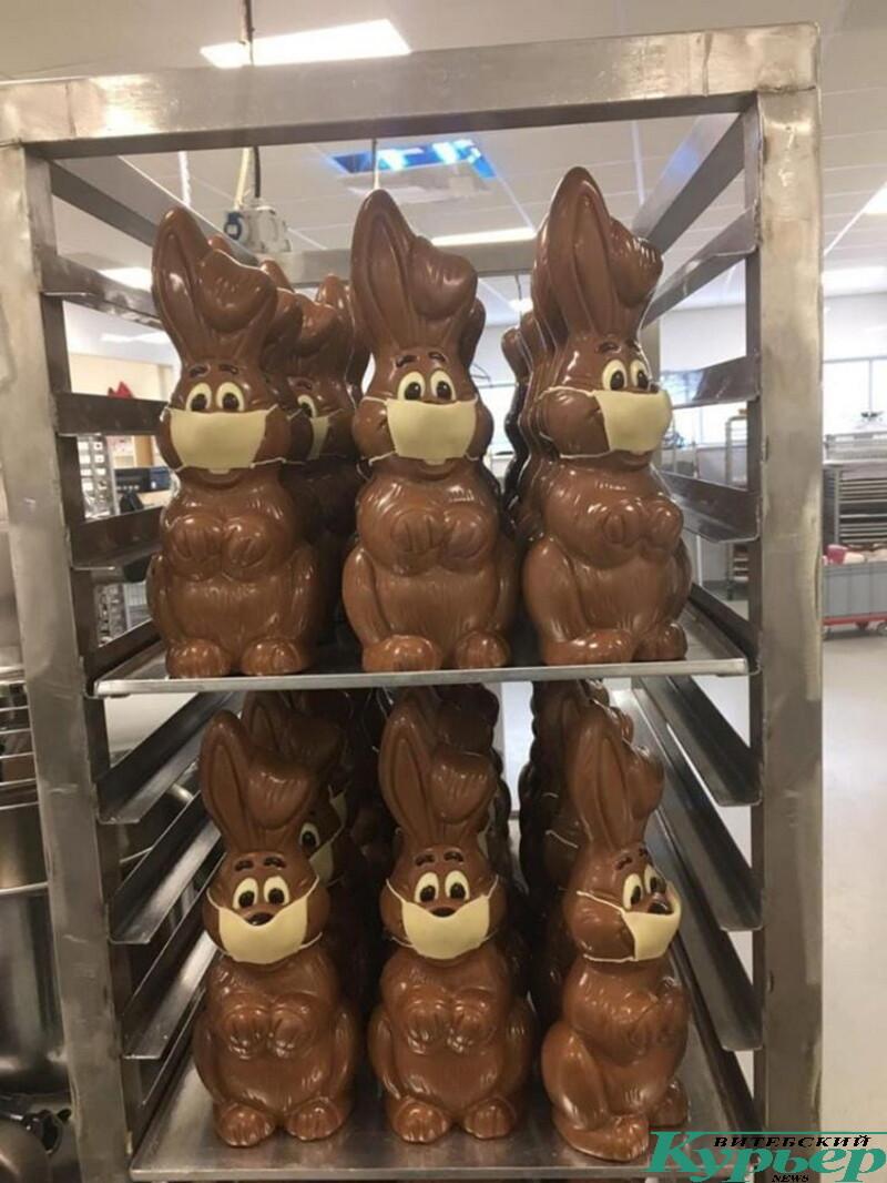 шоколадные зайчики к пасхе во Франции
