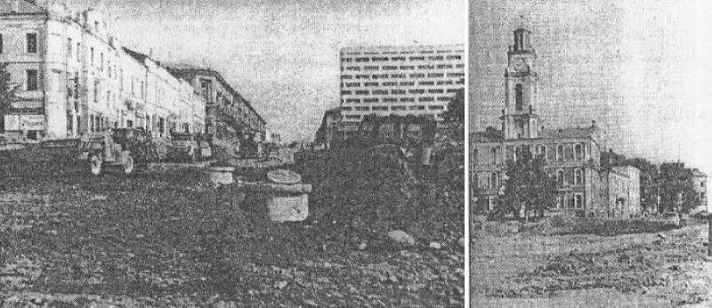 1972 год. Снятие трамвайных рельс с улицы Ленина