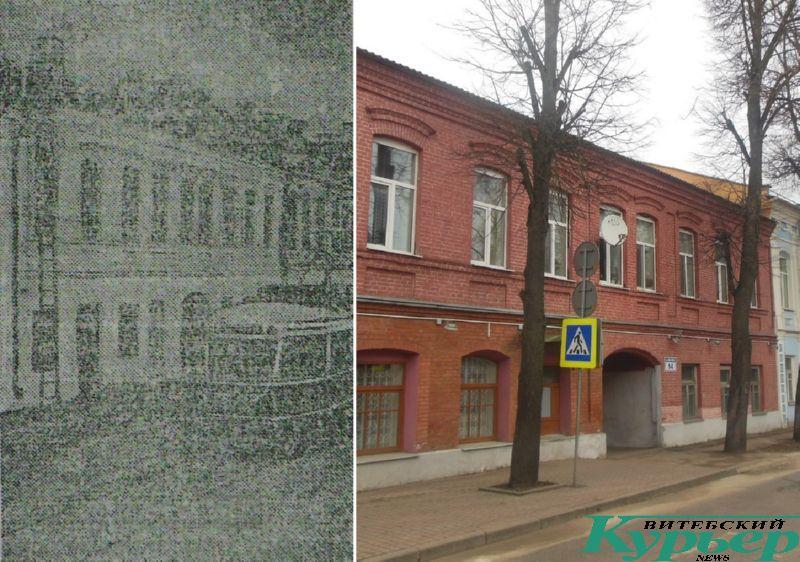 Трамвай у дома № 14 по улице Советской Армии