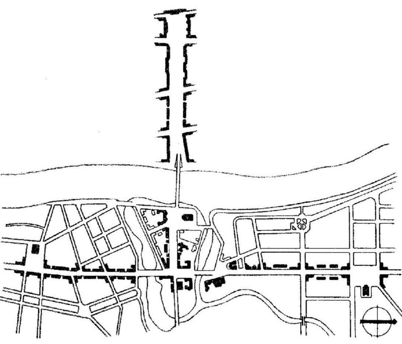 Послевоенный план застройки центра Витебска