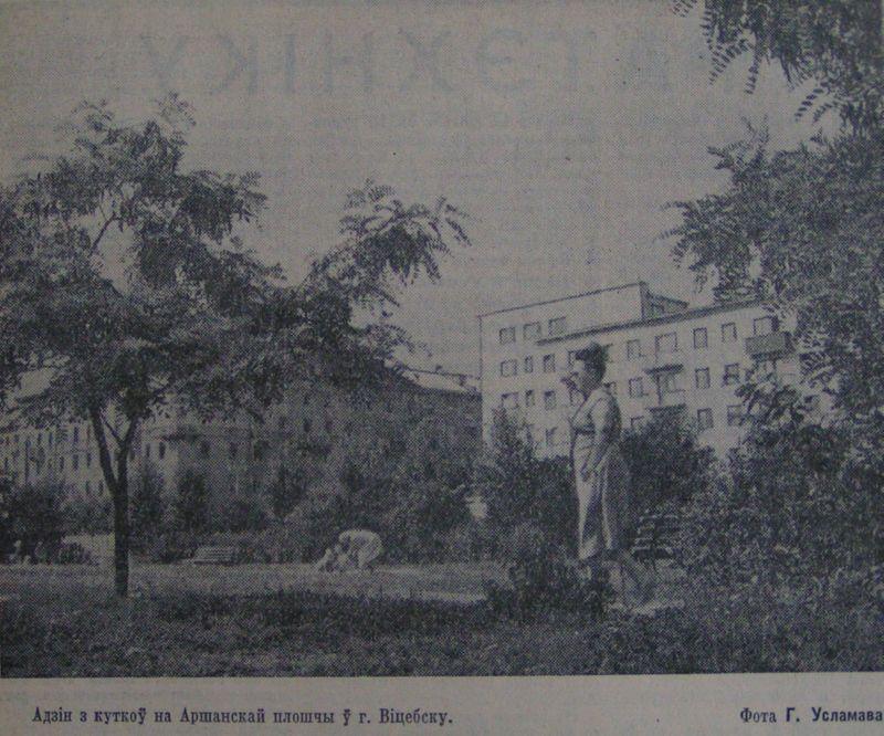 Сквер на Оршанской площади. 1966 год