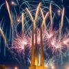 3 июля в Витебске собралось много людей на площади Победы, чтобы посмотреть праздничный салют