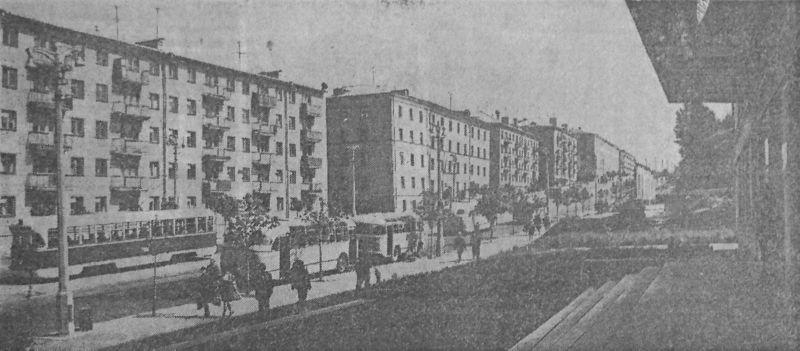 1969 год. Трамвайный спуск на проспекте Фрунзе